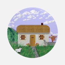 IRISH COTTAGE Ornament (Round)