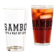 Sambo Is Life Drinking Glass