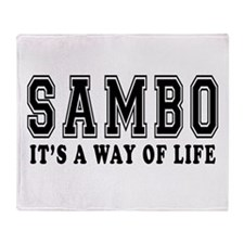 Sambo Is Life Throw Blanket