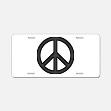 Round Peace Sign Aluminum License Plate
