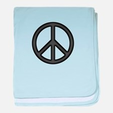 Round Peace Sign baby blanket