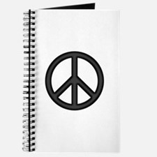Round Peace Sign Journal