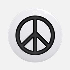 Round Peace Sign Ornament (Round)