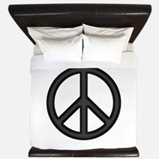 Round Peace Sign King Duvet