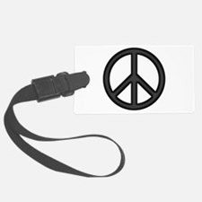Round Peace Sign Luggage Tag