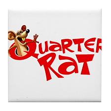 Quarter Rat Logo Tile Coaster