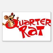 Quarter Rat Logo Decal