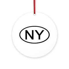 NY Oval - New York Ornament (Round)