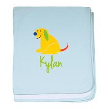 Kylan Loves Puppies baby blanket