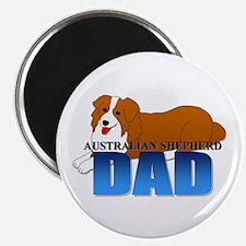 "Australian Shepherd Dad 2.25"" Magnet (10 pack)"