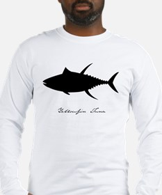 yellowfin tuna with text CLEAR Long Sleeve T-Shirt