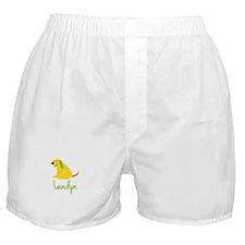 Landyn Loves Puppies Boxer Shorts