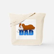 Australian Shepherd Dad Tote Bag