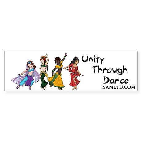 ISAMETD Unity Through Dance Bumper Sticker