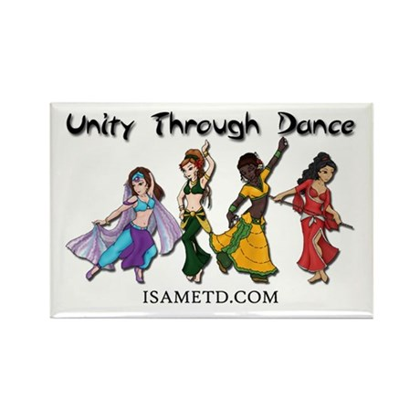 ISAMETD Unity Through Dance Rectangle Magnet (10 p