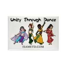 ISAMETD Unity Through Dance Rectangle Magnet