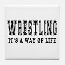 Wrestling Is Life Tile Coaster