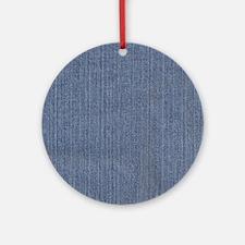 Blue Denim Ornament (Round)