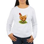 Golden Sex-link Hen Women's Long Sleeve T-Shirt