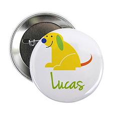 "Lucas Loves Puppies 2.25"" Button"