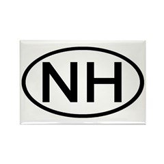 NH Oval - New Hampshire Rectangle Magnet (100 pack