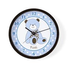 Sugar Teddy Bear Clock - Noah Wall Clock