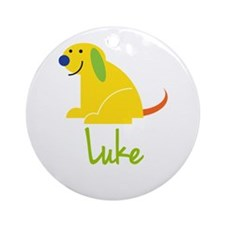 Luke Loves Puppies Ornament (Round)