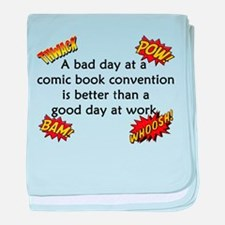 Comic Book Conventions baby blanket