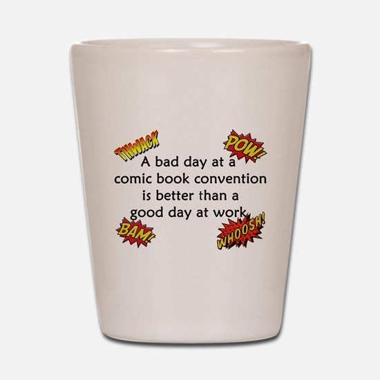 Comic Book Conventions Shot Glass
