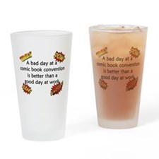 Comic Book Conventions Drinking Glass