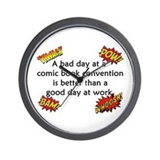 Comic Book Conventions Wall Clock