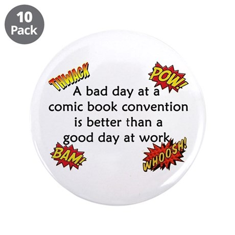 """Comic Book Conventions 3.5"""" Button (10 pack)"""