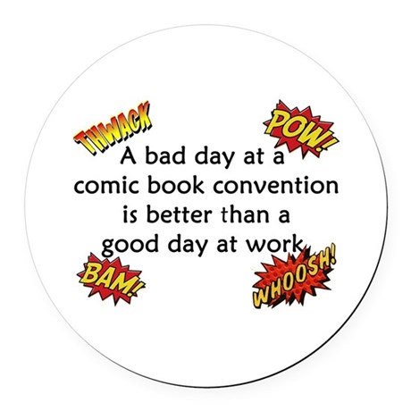 Comic Book Conventions Round Car Magnet