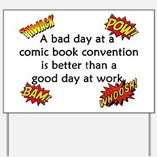 Comic Book Conventions Yard Sign