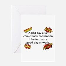 Comic Book Conventions Greeting Card