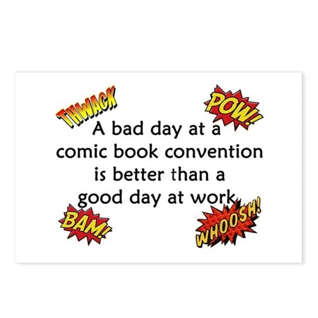 Comic Book Conventions Postcards (Package of 8)
