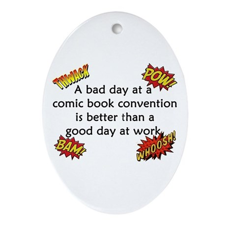 Comic Book Conventions Ornament (Oval)