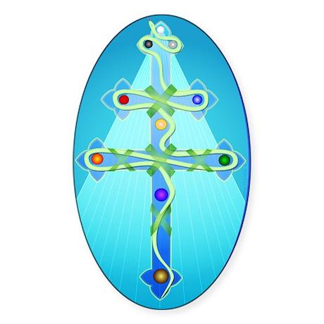 The Serpentine Path - Oval Sticker