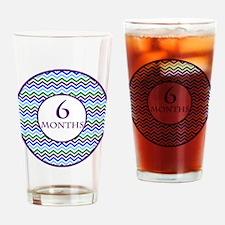 6 Months Chevron Milestone Drinking Glass
