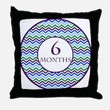 6 Months Chevron Milestone Throw Pillow