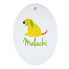 Malachi Loves Puppies Ornament (Oval)