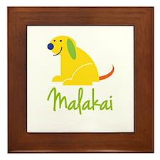 Malakai Loves Puppies Framed Tile