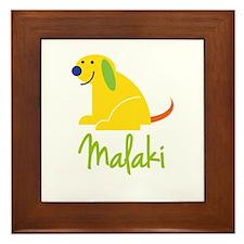 Malaki Loves Puppies Framed Tile