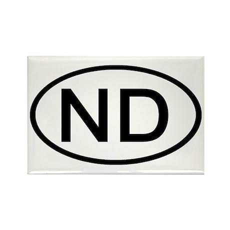 ND Oval - North Dakota Rectangle Magnet (100 pack)