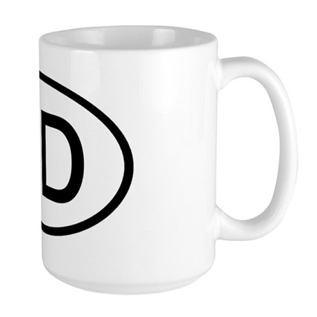 ND Oval - North Dakota Large Mug