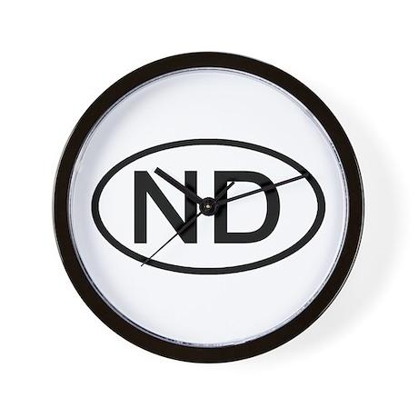 ND Oval - North Dakota Wall Clock