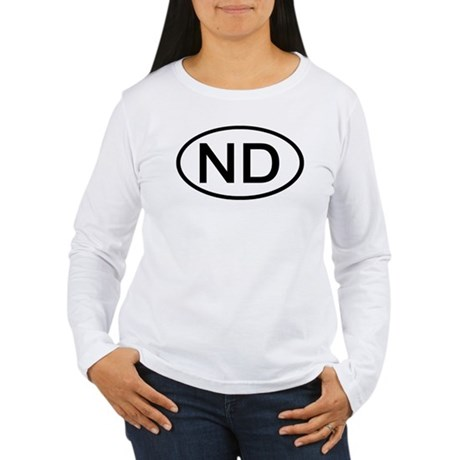 ND Oval - North Dakota Women's Long Sleeve T-Shirt