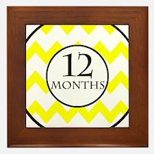 12 Months Chevron Milestone Framed Tile