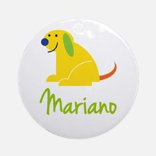 Mariano Loves Puppies Ornament (Round)