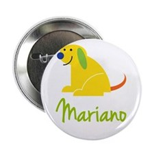 """Mariano Loves Puppies 2.25"""" Button"""